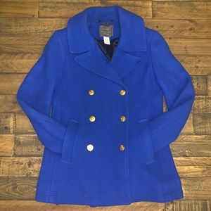 LIKE NEW J.Crew Majesty Peacoat In Cobalt Sz 4